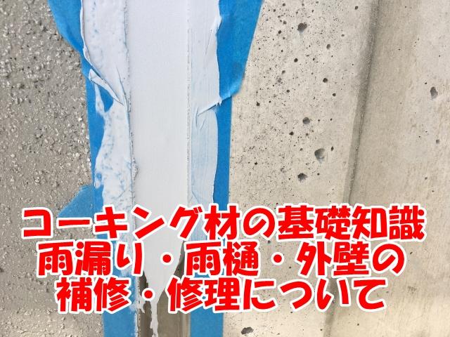 コーキング材の基礎知識~雨漏り・雨樋・外壁の補修・修理について